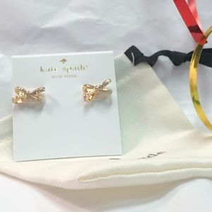 NEW KATE SPADE ♠️ GOLD BOW EARRINGS